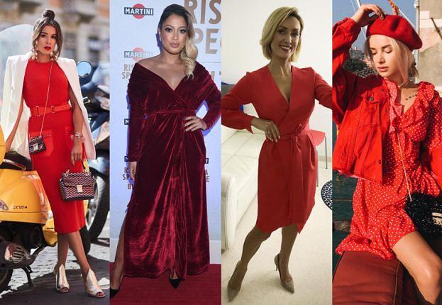 Czerwona sukienka - jak noszą ją gwiazdy?