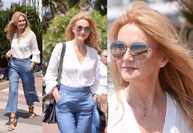 Stylowa Torbicka rozdaje uśmiechy na bulwarze w Cannes (ZDJĘCIA)