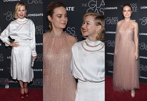 """Naomi Watts i Brie Larson na premierze """"Szklanego zamku"""""""