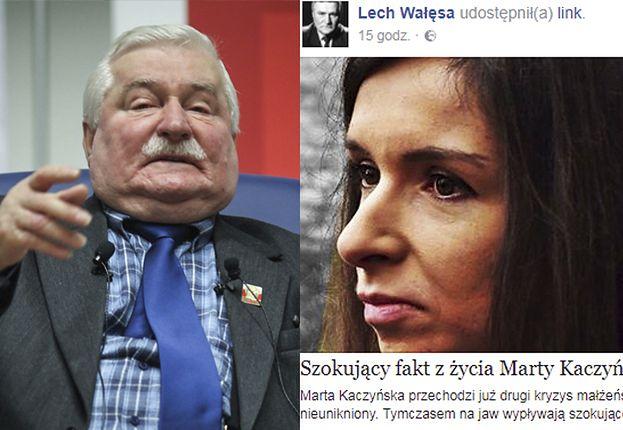 """Wałęsa mści się na Marcie Kaczyńskiej za jej stryja: """"Co oni przez lata wyrabiają ze mną? Ja tylko oddaję"""""""