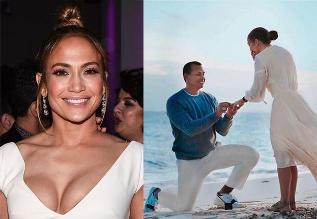 Jennifer Lopez pochwaliła się romantycznymi zdjęciami z zaręczyn (FOTO)