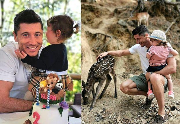 """Robert Lewandowski pokazuje Klarci jelonka w hiszpańskim rezerwacie przyrody: """"Bambi!"""""""