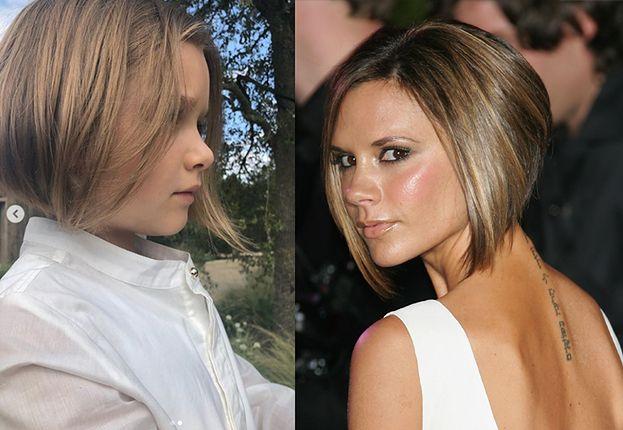 Córeczka Beckhamów Obcięła Włosy Na Krótko Wygląda Jak