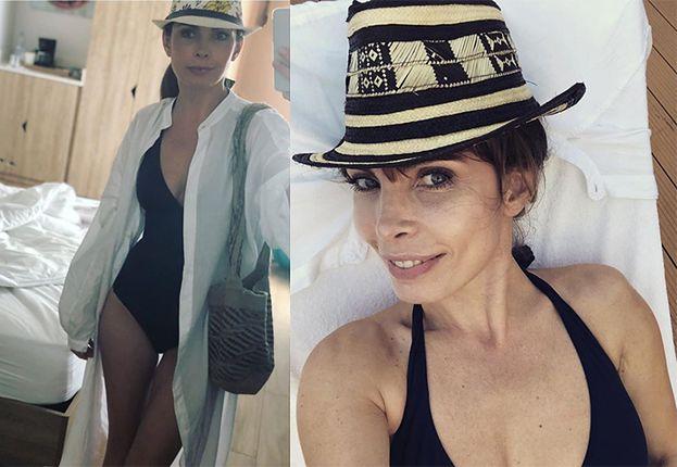 """45-letnia Dygant chwali się figurą w kostiumie kąpielowym. Fani: """"PETARDA!"""""""
