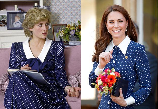 Księżna Kate znów oddała hołd Dianie? Założyła niemal identyczną sukienkę... (FOTO)