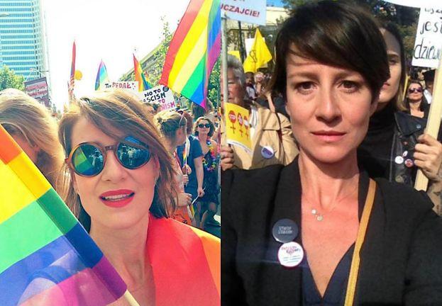 """Internauci atakują Ostaszewską za udział w Paradzie Równości: """"Szkoda, że nie broni Pani tak nienarodzonych dzieci"""""""