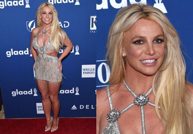 Śnieżnobiały uśmiech i błyszcząca sukienka Britney na GLAAD Awards