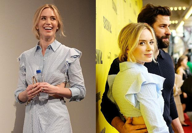 Szczęśliwa Emily Blunt z mężem na premierze filmu