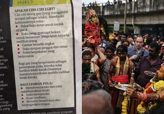 Gazeta z Malezji opublikowała listę, która pomoże ZIDENTYFIKOWAĆ GEJA I LESBIJKĘ