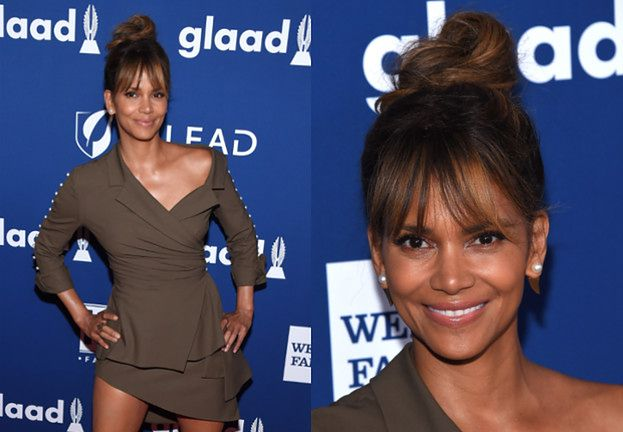 "51-letnia Halle Berry eksponuje nogi na gali ""GLAAD"""