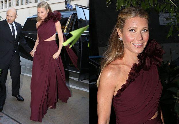 Szczęśliwa Gwyneth Paltrow w drodze na swój sekretny ślub