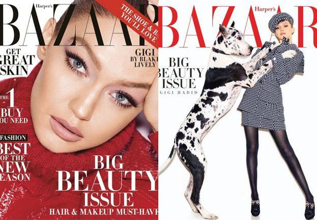 """Szykowna Gigi Hadid na trzech okładkach """"Harper's Bazaar"""""""
