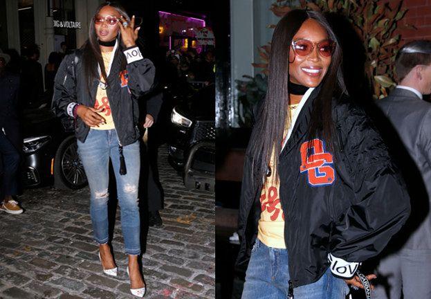 Młodzieżowa Naomi Campbell zmierza na otwarcie sklepu D&G