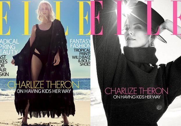 Opatulona Charlize Theron wygrzewa się na plaży