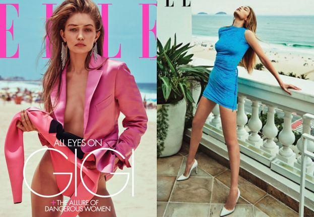 """Szczupła Gigi Hadid wygina wyćwiczone ciało w sesji dla """"Elle"""""""
