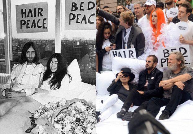 Yoko Ono, Ringo Starr i Jeff Bridges razem w łóżku (FOTO)
