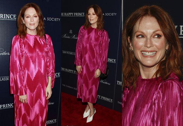57-letnia Julianne Moore pozuje fotografom w różowej sukni Givenchy
