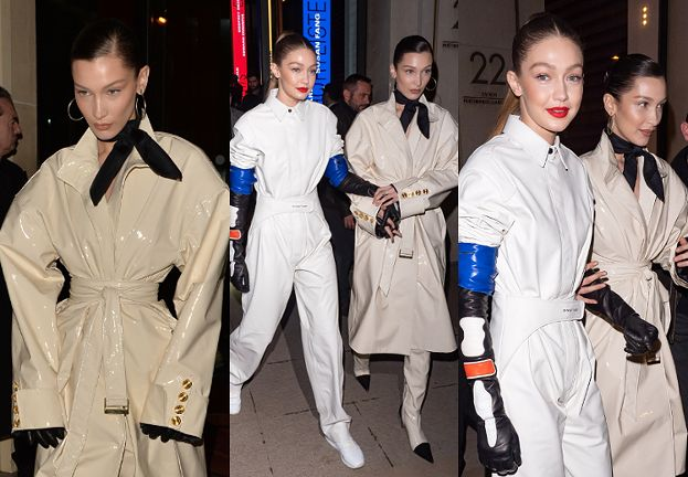 """""""Stylowe"""" siostry Hadid zmierzają na after party Louis Vuitton"""