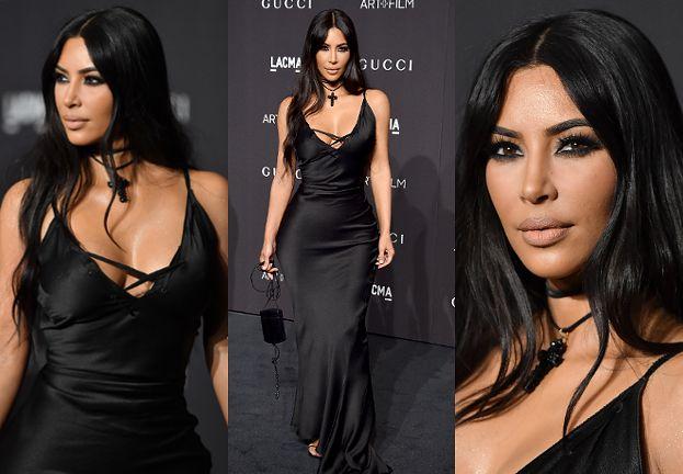 Kim Kardashian chwali się nienaturalnie wąską talią w sukni Gucci