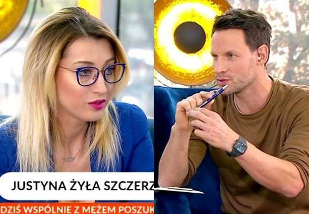"""Justyna Żyła denerwuje się w """"Pytaniu na Śniadanie"""": """"Ja nie wiem, czy słuchałeś, jak rozmawiałam z Marceliną. Strasznie mnie CIĄGNIESZ ZA JĘZYK"""""""