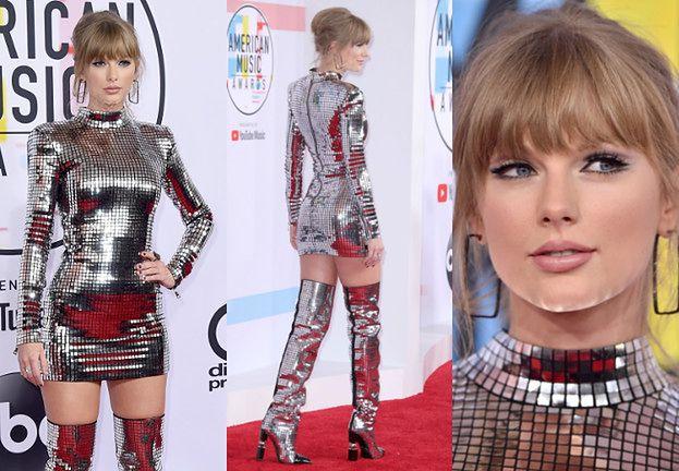 Taylor Swift błyszczy w sukience Balmain na gali AMA