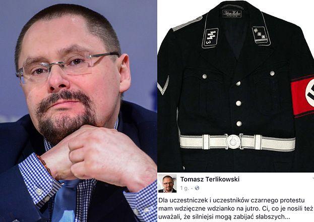 """Terlikowski porównuje uczestniczki """"Czarnego protestu"""" do... SS-manek!"""