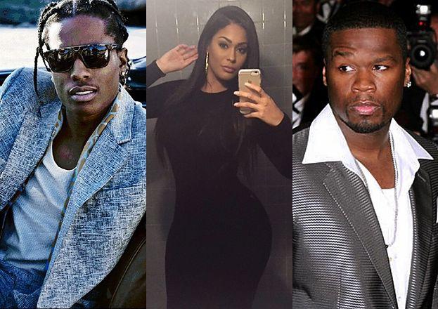 """50 Cent i A$AP Rocky pokłócili się o dziewczynę! Na Instagramie... """"NIE STAĆ CIĘ NA NIĄ!"""""""