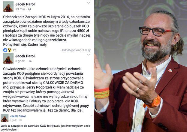 """Były działacz KOD o Kijowskim: """"Za pierwsze uzbierane do puszek KOD pieniądze kupił sobie najnowszego iPhone za 4500 zł"""""""