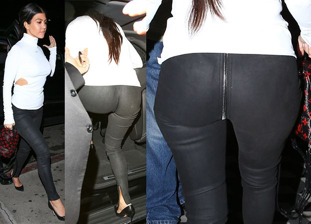 Kardashianka z zamkiem na pupie idzie na randkę (ZDJĘCIA)