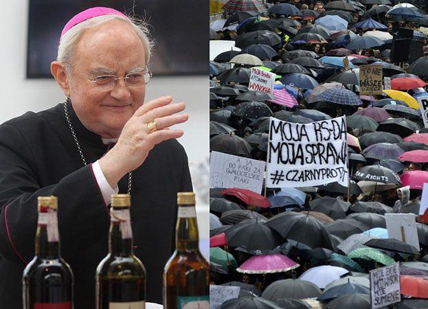 """Arcybiskup Hoser o protestujących kobietach: """"Źle są zorientowane, źle wykształcone. TEN MARSZ BYŁ BARDZO SMUTNY, PONURY"""""""