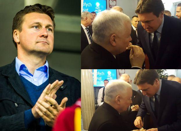 Poseł PiS OSKARŻANY O POBICIE ŻONY chwali się zdjęciami z... Wigilii z Kaczyńskim! Prezes wybaczył?