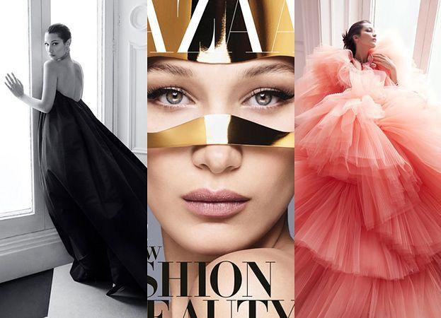 """Zamyślona Bella Hadid pozuje na okładce """"Harper's Bazaar"""""""