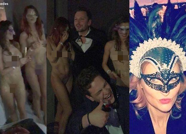 """40. urodziny """"polskiego Hugh Hefnera"""": NAGIE modelki, tłum celebrytów i śpiewająca Reni Jusis (ZDJĘCIA)"""