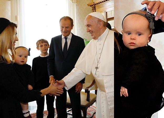 """Donald Tusk chwali się zdjęciem z papieżem Franciszkiem: """"Właśnie przedstawiam SWOJĄ WNUCZKĘ"""""""