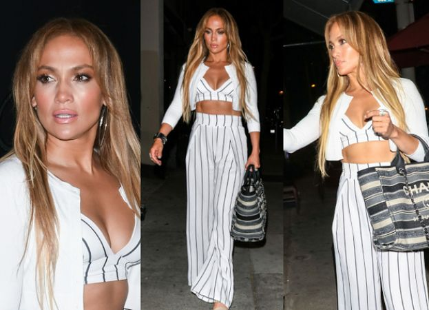 Jennifer Lopez chwali się brzuchem w Los Angeles