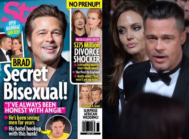 """Brad Pitt jest BISEKSUALISTĄ?! """"Od 10 lat sypia z mężczyznami""""..."""