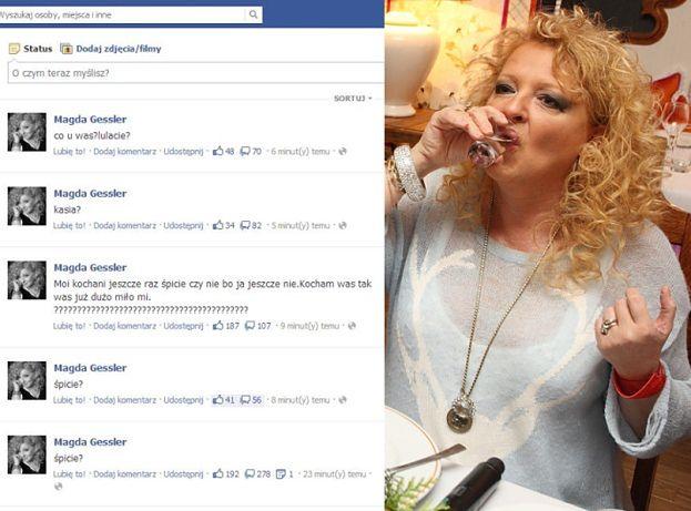 """Magda Gessler """"zmęczona"""" na Facebooku? (FOTO)"""