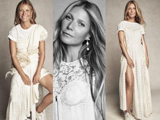 """Świeżo poślubiona Gwyneth Paltrow pozuje w bieli na okładce brytyjskiego """"Marie Claire"""""""
