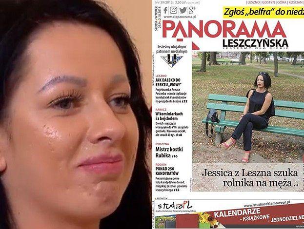 """PIERWSZA OKŁADKA Jessiki z """"Rolnika""""! Siedzi na ławce w """"Panoramie Leszczyńskiej"""""""