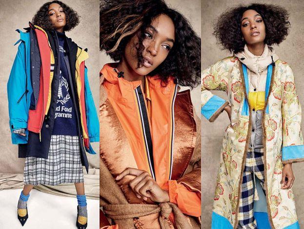"""Obładowana kurtkami Jourdan Dunn prezentuje zimowe trendy na okładce włoskiego """"Elle"""""""
