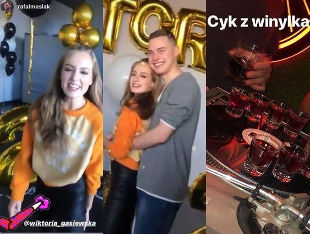 20. urodziny Wiktorii Gąsiewskiej: alkohol, złote balony i tort z filmowym akcentem (FOTO)