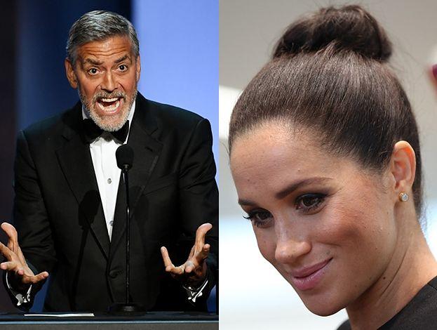 """George Clooney broni Meghan Markle: """"Traktują ją jak kiedyś Dianę. Historia się powtarza"""""""
