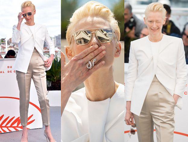 Cannes 2019: Posągowa Tilda Swinton puszcza oczko i posyła buziaczki, promując nowy film