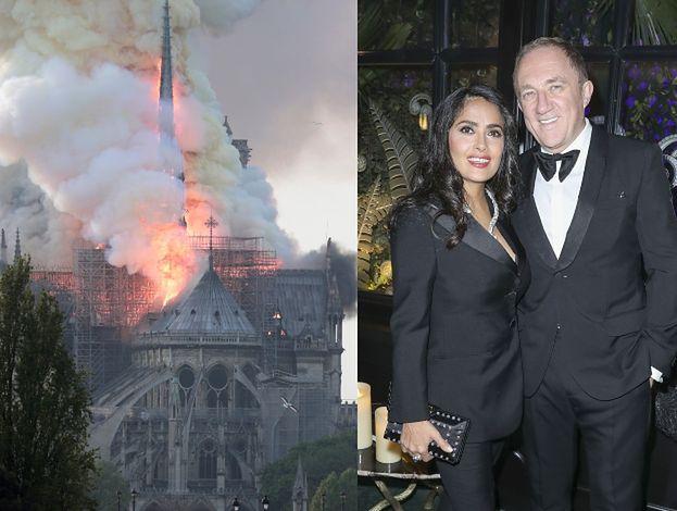 Pożar Notre Dame. Mąż Salmy Hayek przekaże 100 MILIONÓW euro na odbudowę katedry