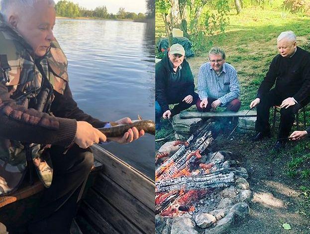 Kaczyński w stroju prawdziwego mężczyzny złapał szczupaka i nie pozwolił mu zginąć (FOTO)