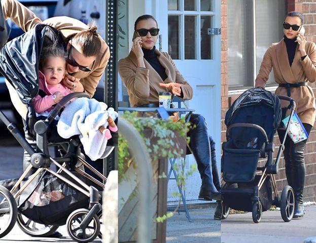 Elegant Irina Shayk walks with little Lea in New York (PHOTOS)