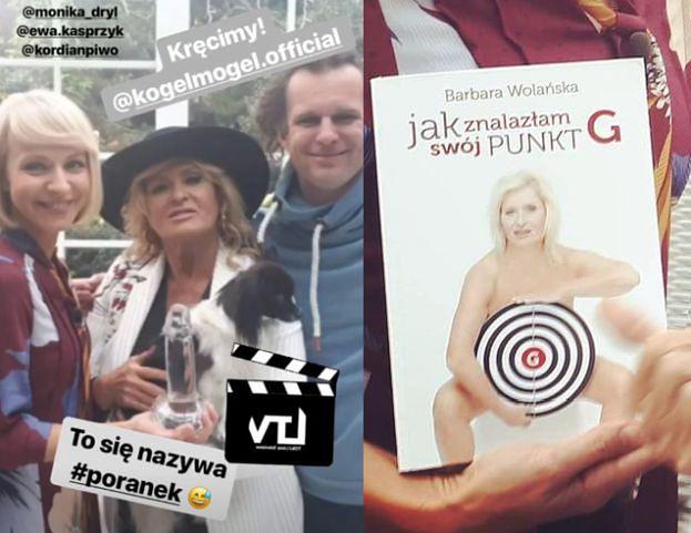 """Tymczasem na planie """"Kogla-Mogla"""": Kasprzyk pozuje z KRYSZTAŁOWYM PENISEM... (FOTO)"""