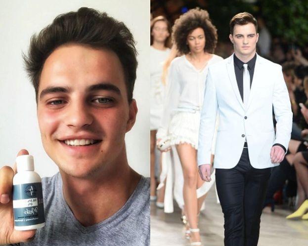 """Patryk Grudowicz z """"Top Model"""" osiągnął szczyt kariery: reklamuje płyn do higieny intymnej"""