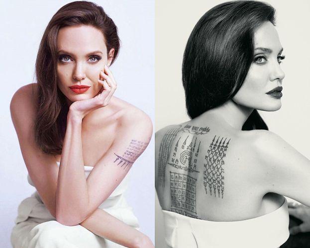 Angelina chwali się tatuażami w reklamie perfum