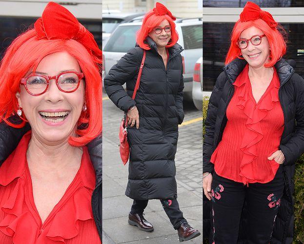 """Małgorzata Potocka """"bawi się modą"""" na """"obiedzie z gwiazdami"""""""